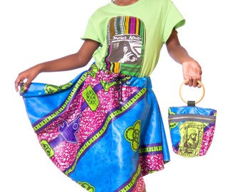 MOTHERAFRICA tshirt / PROTECTION skirt / ALMIGHTY  bangle clutch