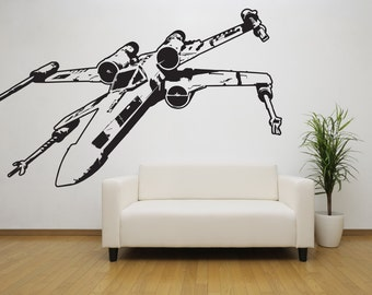 X Wing Star Wars Decal - Star Wars Decor, Star Wars Gift, Home Decor, Housewarming Gift, Gifts for Him, Gifts for Her, Star Wars Gifts