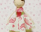 SweetHeart Ava Miniature Wooden Clothespin Doll