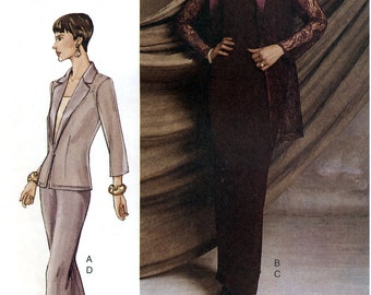 Vogue 7520 Sewing Pattern for Misses' Jacket, Camisole, Skirt and Pants - Uncut - Size 12, 14, 16 - Bust 34, 36, 38