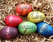 Personalized Wooden Egg for Easter, You Pick Color