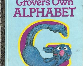 Grover's Own Alphabet, A Little Golden Book, Vintage Children's Book, C1978