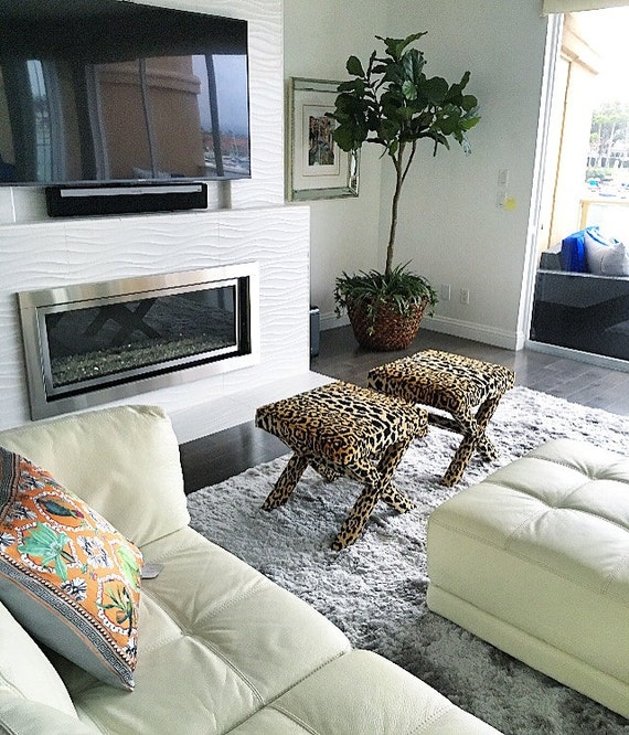 Leopard X Benches - PAIR