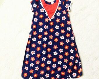 Modern Marimekko Style Girls Dress, Jaipur India, FREE SHIPPING USA