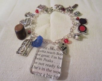 Secret Diary Custom Charm Bracelet, inspired by Twin Peaks, w/ YOUR CHOICE 12 additional Twin Peaks inspired charms.