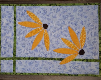 Quilted Wall Hanging - Blacked Eyed Susan