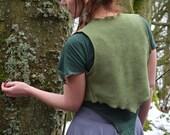 Beida Waistcoat ~ Green ~ Fleece ~ Winter Clothing ~ Woodland Fairy ~ Autumn Wear ~ Vest ~ Shrug ~ Faery Clothing ~ technodolly