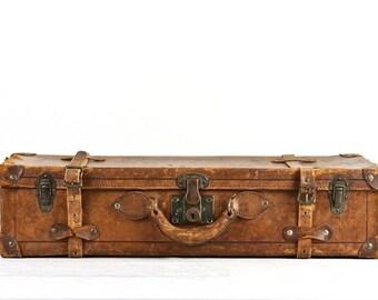 celine wallet price - Train Case Suitcase Vintage Brown Faux Croc by HuntandFound