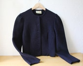Boiled Wool Cardigan Jacket, Austria