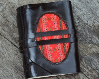 """Leather Journal / Handmade / Diary / 6""""X4""""/ LINED or plain"""