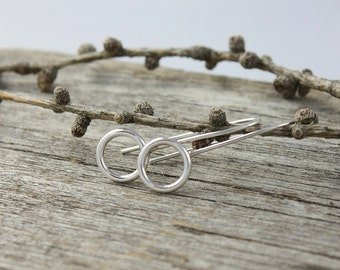 Sterling Silver Circle Solid Drop Earring