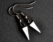 Silver Pyramid Spikes . Earrings