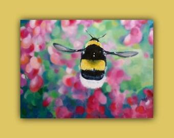 "PaintingOnCanvas ""BEE'S EYE VIEW"" OriginalOilPainting #flowers #Bug #Honey #bee #OilPainting #Etsy #EtsySucess #SignedByTheArtist"