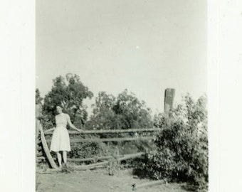"Vintage Photo ""Farmers Daughter"" Snapshot Antique Photo Old Black & White Photograph Found Paper Ephemera Vernacular - 14"