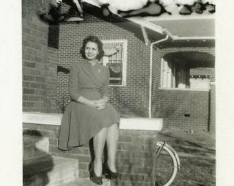 "Vintage Photo ""Alien Clouds"" Mistake Snapshot Photo Old Antique Photo Black & White Photograph Found Photo Paper Ephemera Vernacular - 196"
