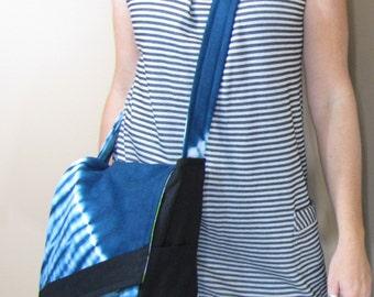 Messenger Bag Sapphire Tie Dye
