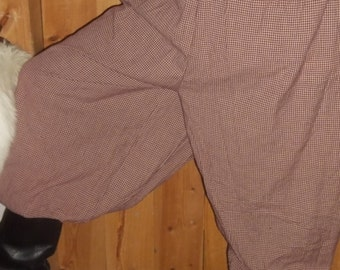 full pants in burgundy homespun