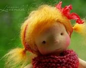 "Agatha Waldorf Inspired Doll OOAK Doll  by Atelier Lavendel Natural Fibers Doll Cloth Doll 9"" ECO friendly"