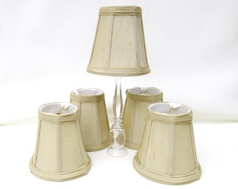 Vintage Chandelier Shades, Fabric Lampshades, Light Sconce Shades, Small Lamp Shades – Beige
