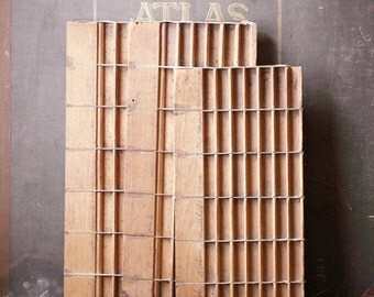 Vintage Printers Typesetting Drawers - Great Organizing Trays for Tiny Things