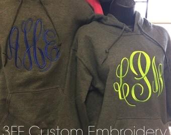 Personalized Monogrammed Adult Hooded Sweatshirt