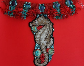 FREE SHIPPING seahorse 2 necklace
