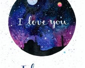 I Love You, I Know - Print