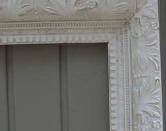 White Picture Frames, 20 x 28 Frame, Ornate Picture Frame, White Wood Frame, Cottage Chic, White Gesso Frame, Large Wood Frame, Floral Frame