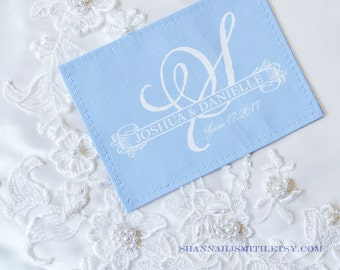Something Blue • Wedding Dress Label • Personalized Patch • Monogram • Unique Bridal Gift • Something Old New Borrowed Blue