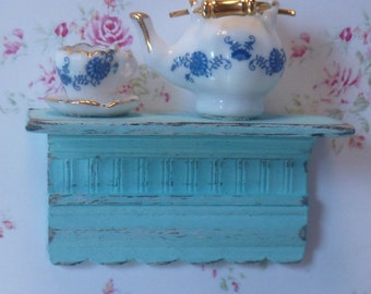 Shabby Chic Country Small Shelf for Dollhouse