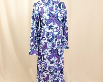 Paisley Purple Caftan * Purple Maxi Dress * Boho Maxi Dress * Prairie Dress * Paisley Dress * Cotton Dress