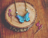 RESERVED for KEETpilot. boho wooden butterfly necklace.