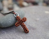Tiny Handmade Chainmaille Cross Necklace