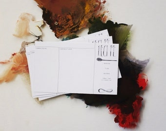 modern 4x6 recipe cards - black & white - one dozen or discounted sets!