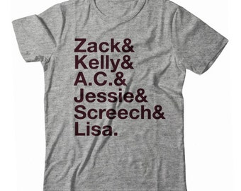 Saved by the Bell Names UNISEX T-shirt by NIFTshirts