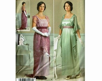 Turn of the Century Downton Titanic Fashion Ladies Dresses Uncut Sewing Pattern Sizes 14 16 18 20 22 Andrea Schewe Simplicity 1517