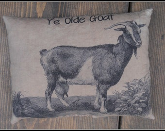 Olde Goat Feedsack Pillow