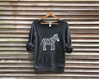 don't blend in Zebra Sweatshirt, Zebra Top, Cozy Sweater, S,M,L,XL