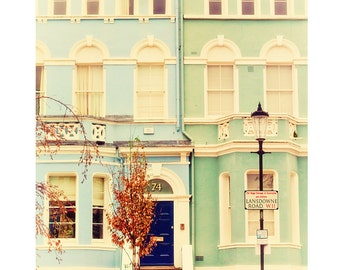 "London photography, London colorful houses, Notting Hill - ""Pastel London"""