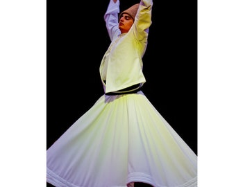 "Turkey photography, Sufi Dancer Art Print, travel photography - ""Whirling Dervish"""