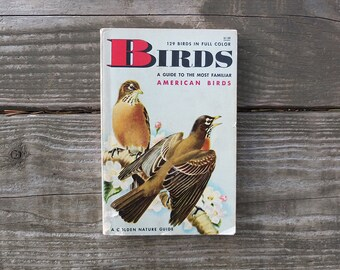 Vintage Birds Guide Book / Golden Nature Guide Book