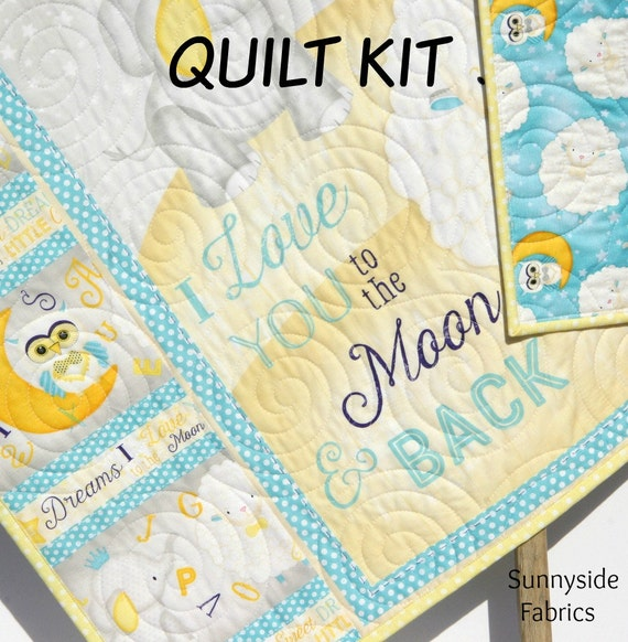 Quilt Kit I Love You to the Moon and Back Panel Gender Neutral