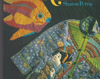 Vintage 1980s Machine Applique Book by Sharon Perna Sewing Machine Embroidery with or without Seams 80 Full Size Patterns
