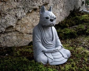 Marvelous Boston Terrier Meditating Buddha Dog Statue, Concrete Statues Of Dog  Buddha, Boston Terrier Statues