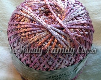 Viscose yarn Silk melange, Rayon. Lace Yarn. Viscose Silk, hypoallergenic. Summer yarn in pink shades (03). Koprina melange. DSH(P1)