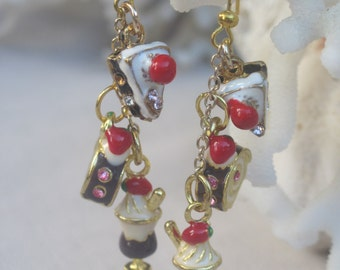 Yummy, Colorful n Delectable Enameled Pastry Charm Earrings