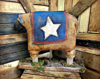 Primitive Sheep | Americana Sheep | Sheep Centerpiece | Primitive Sheep decor | Folk Art Sheep | 4th of July