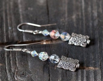 Swarovski Earrings, Crystal Earrings, Dangle Earrings, Summer Jewerly, Wedding Jewelry, Unique Jewelry, Gift For Her, Swarovski Crystal