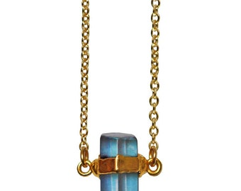 aqua aura point necklace