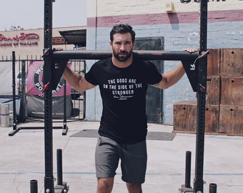 Mens Gift - Black tshirt short sleeve super soft made in the USA tee. We Are All Smith t-shirt. Men's Clothing. Men's black top